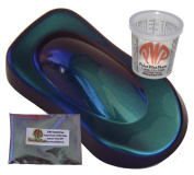 25g Blue Green Red Chameleon Paint Powder - Colour Shift Paint Pigment - Non Toxic Includes 240ml Mixing Cup