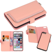 iPhone 6s Case, iPhone 6 Case, DRUnKQUEEn® Premium Slim Wallet Zipper Clutch Leather Credit Card Holder Feature Purse Flip Type Removable Case - Detachable Magnetic Back Cover for iPhone6s / iPhone6