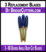 Brother Scan N Cut Replacement Cutting Blades, 3 blades Deep Cut 60 degree angle blade ScanNCut