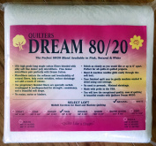 Quilter's Dream 80/20, Natural, Select Loft Batting - Twin Size 240cm x 180cm