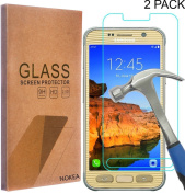 [2 Pack] Samsung Galaxy S7 Active Screen Protector, NOKEA [Tempered Glass] with [9H Hardness] [Crystal Clear] [Easy Bubble-Free Installation] [Scratch Resist]