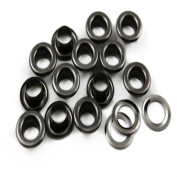 Trimming Shop 100 Pieces Of 6mm Gun Metal Black Eyelets & Washers Grommets Grommets For Safety And Home Repair Construction Manual Plier Or Machine