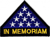 """IN MEMORIAM"", MILITARY honour, AMERICAN FLAG, VETERAN -Iron On Patch"