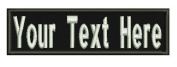8.9cm (inches) Custom Name Tape w. backing / Personalised Military Name Tapes, Tactical
