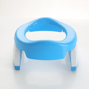 Folding portable infant child toilet on-board toilet , blue