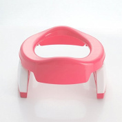 Folding portable infant child toilet on-board toilet , pink
