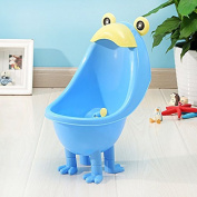 Suction-cup wall mounted urinal boy standing urinals for children , blue