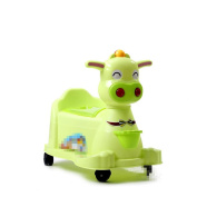 Baby calf drawers on wheels with light of music men and women toilet , green