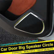 UltiFit(TM) Stainless steel modified decorative circle audio speaker cover ring trim 4pcs kit For Opel VAUXHALL ASTRA J