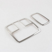 UltiFit(TM) 2pcs Car stainless steel interior reading lamp cover overlay for Hyundai IX35 auto accessories