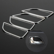 UltiFit(TM) For KIA RIO K2 2011 2012 2013 2014 ABS Chrome trim door handle cover interior decoration ring sticker 4pcs/set