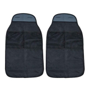 VANSSI 2PCS Car Organisers Kick Mats, Waterproof Seat Back Protectors-Black