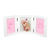 Baby Footprint Kit,Baby Handprint Hand and Foot Print Photo Frame Kit Baby Casting Impression Kit for baby Girls Boys Photo Album Memories Keepsake Gifts Great Baby Gift For Baby Registry Safe Clay
