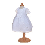 H/B Baby Girl 2Pcs Lace White Christening Baptism Gown Party Dress 18-24months