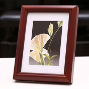 HAHA High-grade mahogany colour plus chunky wood photo frame glass picture frame , 7 inch inner frame 178*127mm