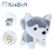 KOSBON 15cm Cute Soft Stuffed Plush Husky Dog Toys With Small Bell,Best Birthday Gifts For Kids.