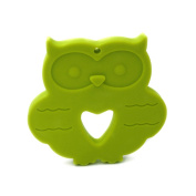 Coskiss Baby Silicone Teether Lemon Green Owl Nursing Necklace Teething Chew Toy
