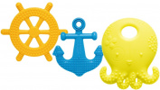 Mayapple Baby¨ - Suri™ the Octopus and Friends Teether - 3 Silicone Teething Toys - Lemon Set