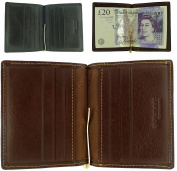 Quality Leather Money Clip Wallet and Card Holder