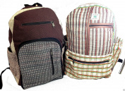 Fair Trade Natural Hemp Patchwork Backpack from Nepal