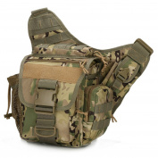 Mrdigital Multi-Purpose Tactical Waist Bag Poly Tool Holder EDC Pouch Bag Military Utility Tactical Waist Pack Camping Hiking Pouch Black