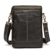 Stepack Brand Fashion Men'sGenuine Real Leather Trave Bag Messenger Bag Business Bag For IPAD MINI