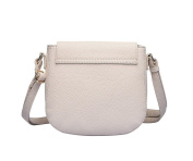 Ladies Womens Nude Textured Faux Leather Cross Body Bag