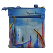 Anuschka Hand Painted Luxury -596 Leather RFID Blocking Triple Compartment Travel Organiser