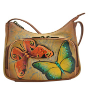 Anuschka Hand Painted Luxury - Leather Compact Crossbody Travel Organiser (Earth Song) 481 EST