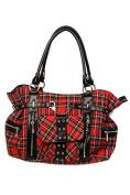 Banned Apparel Tartan/Checked Shoulder Cross Handbag