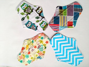 4PCS 25cm Charcoal Bamboo Cloth Reusable Washable Menstrual Pads Sanitary Pads