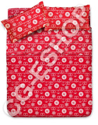 BED SET 1 1/2-SINGLE DOUBLE KNOT RUDDER ANCHOR SAILOR RED