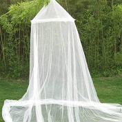 QLIN White Lace Round Mosquito Net Bed Canopy Insect Protection