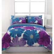 FORMULA Giant Floral Reversible Bed in a Bag Bedding Set QUEEN