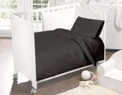 Love2Sleep 200 TC LUXURY EGYPTIAN COTTON COT BED FITTED SHEET 70 X 140 CM CHARCOAL