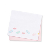 Mothercare 2 flat Cotton Sheets for a Cot or Cot Bed in Butterfly Fields Pink and White Design