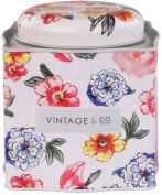 Vintage & Co Patterns and Petals Bath Fizzer Caddy, 15 x 20 g