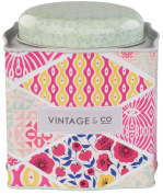 Vintage & Co Fabrics and Flowers Bath Fizzer Caddy 20 g - Pack of 15
