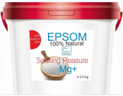 Pure Epsom Salt 2.5 kg Natural Magnesium ● Resealable stand-up pouch ● Easy-to-Use ● Food Grade, SPA and At-Home Care Soaking Pleasure ● A pure, time-tested mineral ● Health, Beauty , Fitness & Wellness, Crafts, Gardening by bleumarine Bretania , France