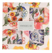 Vintage & Co Patterns and Petals Bath Fizz, 4 x 80 g