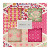 Vintage & Co Fabrics and Flowers Bath Fizz 80 g - Pack of 4