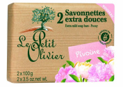 Le Petit Olivier Soap with rose and olive oil 2 x 100 grammes from France