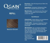 Qgain Hair Fibres 50g Refill Bag MEDIUM BROWN Hair Loss Concealer
