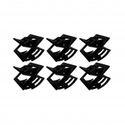 OMYGOD Black Square Hair Claw Clip Clamp Hair Accessory - length 3cm - Sold as a pair - PACK OF 3 PAIRS
