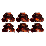 OMYGOD Tortoiseshell Hair Claw Clip Clamp Hair Accessory - length 4cm - Sold as a pair - PACK OF 3 PAIRS