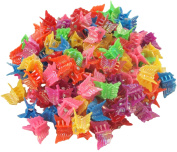 Cornucopia Brands 100 Pack Of 90's Butterfly Hair Clips, 90's Accessories Hair Clips, Bulk Small Butterfly Hair Clips