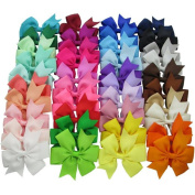 NALATI 40Pcs Baby Girl Grosgrain Ribbon Boutique Hair Bows For Teens Babies Toddlers