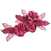 Beads4crafts 1 Red Applique With Sew On Crystals Dresses Bridesmaid Piece 285X140Mm Hl1043