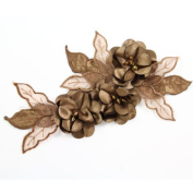 Beads4crafts 1 Brown Applique Embellishment With Sewn On Crystals Dress 285X140Mm Hl1047