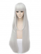 Tsnomore Wild Cat Super Long Straight Grey Colour Cosplay Wig